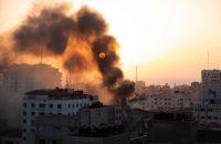 Gaza City, May 12. Credit Khalil Hamra/Associated Press