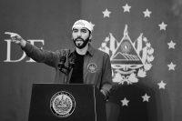 Nayib Bukele, presidente de El Salvador, en febrero de este año. Credit Stanley Estrada/Agence France-Presse — Getty Images