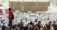 Acampada en la Puerta del Sol de Madrid vinculada movimiento 15-M, en mayo de 2011.Cristóbal Manuel