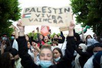 A Paris, lors de la manifestation pro-palestinienne, le 15 mai. (Patrick Gherdoussi/Libération)