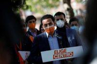 Edmundo Bal, el aspirante de Ciudadanos a la presidencia de la región de Madrid, quedó último. Credit David Fernandez/EPA, via Shutterstock