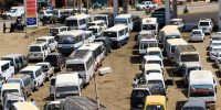 Sudanese drivers queue up for fuel in Omdourman as the country's economy sinks into deep crisis following the fall of Omar al-Bashir's regime. Photo by ASHRAF SHAZLY/AFP via Getty Images.