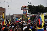 Una manifestación contra el Gobierno de Iván Duque, el pasado 13 de junio en Cali.LUIS ROBAYO / AFP