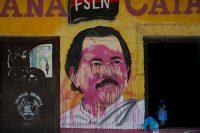 A defaced mural of Nicaraguan President Daniel Ortega in Catarina, Nicaragua, May 7, 2018 (AP photo by Moises Castillo).