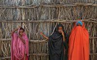 Somali refugee girls at Dadaab refugee camp in northern Kenya in 2017. (Ben Curtis/AP)