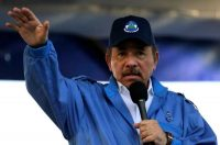 Foto de archivo del presidente de Nicaragua, Daniel Ortega, durante la conmemoración del 51 aniversario de la campaña guerrillera Pancasana en Managua, el 29 de agosto de 2018. (Inti Ocon/AFP)