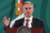 El subsecretario de Salud mexicano Hugo López-Gatell participa en una conferencia de prensa en Palacio Nacional, México, el 22 de junio de 2021. Ha sido criticado por sus declaraciones sobre las protestas por el desabasto de medicamentos contra el cáncer. (Jose Pazos/EPA-EFE/Shutterstock)