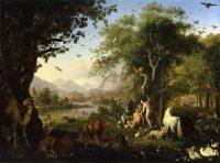 Adán y Eva en el paraíso terrenal, de Johann Wenzel Peter
