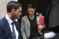 Britain's Home Secretary Priti Patel leaves 10 Downing street in central London on June 24. (Daniel Leal-Olivas/AFP/Getty Images)