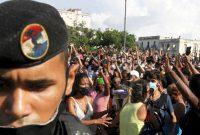 Protesta contra el Gobierno cubano en La Habana, el pasado 11 de julio.STRINGER / Reuters