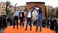 Mitin de Ciudadanos en la Plaza del Dos de Mayo de Madrid