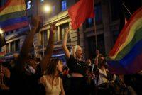 Una manifestación contra la homofobia en Barcelona el 9 de julio, después de la muerte de Samuel Luiz. Credit Nacho Doce/Reuters