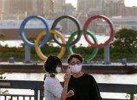 El Monumento del Anillo Olímpico en Odaiba, un día antes de la ceremonia de inauguración de los Juegos Olímpicos de Tokio 2020, en Japón, el 22 de julio de 2021. (Kimimasa Mayama/EPA-EFE/Shutterstock)