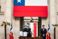 El presidente de Chile, Sebastián Piñera, anuncia la inauguración de la Convención Constitucional de Chile para el 4 de julio, en Santiago, el 20 de junio de 2021. (Sebastián Rodríguez/¨Presidencia de Chile/AFP vía Getty Images) (Sebastian Rodriguez/AFP/Getty Images)