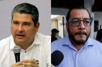 Juan Sebastián Chamorro, left, and Félix Maradiaga, right. (INTI OCON/Photos by AFP via Getty Images a)