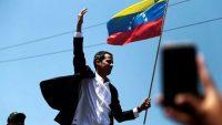Juan Guaidó a su llegada a Venezuela.