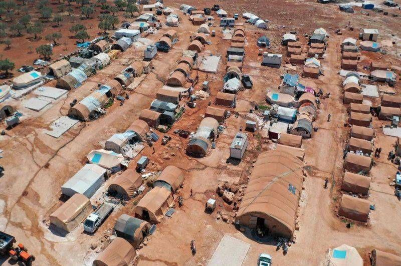 Un camp de déplacés syriens au nord-ouest de la province d'Idleb, en Syrie, le 11 juillet 2020. Photo d'archives AFP