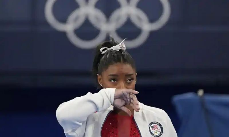 'Many will wonder whether Simone Biles' loss of nerve has deeper roots.' Photograph: Ashley Landis/AP
