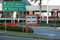 A Queensland-New South Wales border sign in Australia on Sept. 2. (Jono Searle/EPA-EFE/Shutterstock)