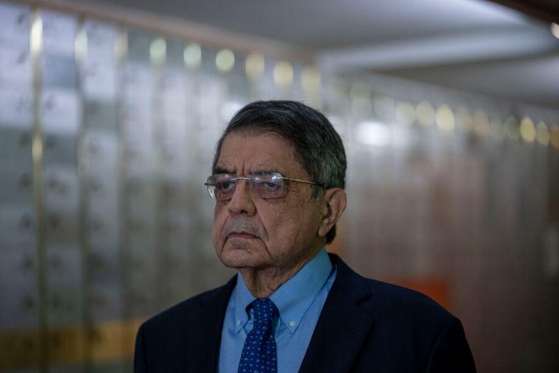 El escritor originario de Nicaragua, Sergio Ramírez, en el Instituto Cervantes en Madrid, España, el 13 de septiembre de 2021. (Manu Fernandez/AP)