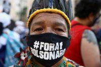 Protesta contra Bolsonaro, el martes 7 de septiembre, en São Paulo.CARLA CARNIEL / Reuters