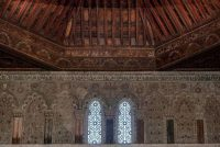 Vista del artesonado del Museo Sefardí de Toledo.EFE
