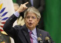 El presidente de Ecuador, Guillermo Lasso, en Quito el 24 de septiembre de 2021. Él está en la lista de la investigación 'Pandora papers' por vínculos con 10 compañías offshore. (AP Photo/Dolores Ochoa, File)