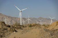 Turbines at a wind farm near Golmud, Qinghai province, China, last month. (Qilai Shen/Bloomberg News)