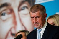 Czech Prime Minister Andrej Babis, the leader of ANO party, reacts during a news conference at the party's election headquarters after the country's parliamentary elections in Prague on Oct. 9. (Bernadett Szabo/Reuters)