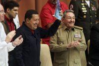 El presidente de Venezuela Hugo Chávez (izquierda), y el presidente de Cuba, Raúl Castro, en 2010 en La Habana.Sven Creutzmann (GETTY IMAGES)